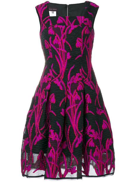 Talbot Runhof dress women black silk