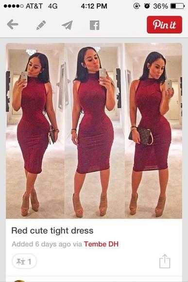 maxi dress fitted dress red dress burgundy dress macaroon dress bodycon dress