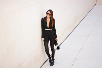 fashion vibe blogger bag pants shoes jewels jacket