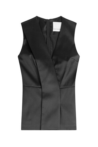 top cotton silk black