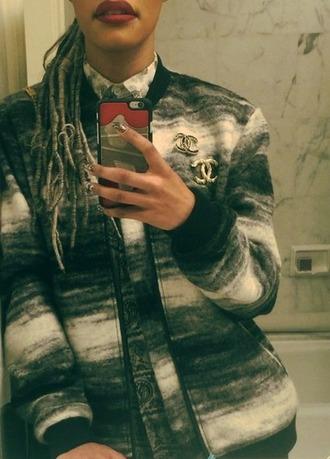 coat chanel wool