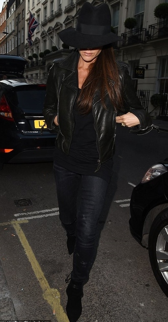 boots jacket leather jacket victoria beckham