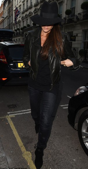 victoria beckham boots jacket leather jacket
