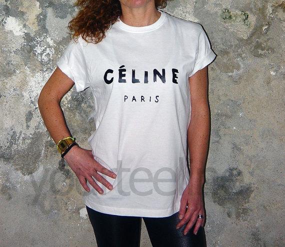 Celine tshirttshirt by yourteeline on Etsy