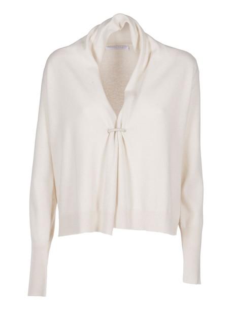 Fabiana Filippi cardigan cardigan loose fit draped brown sweater