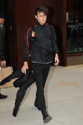 jacket anwar hadid model off-duty menswear mens jacket mens shoes