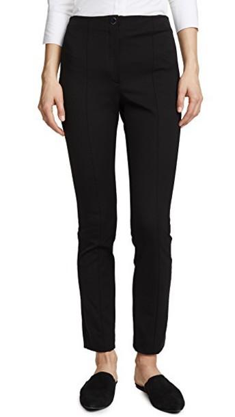 theory pants cigarette pants black