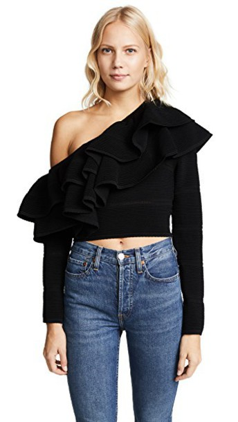 Keepsake top knit black
