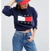 sweater,tommy hilfiger,sweatshirt,navy,jumper,hoodie