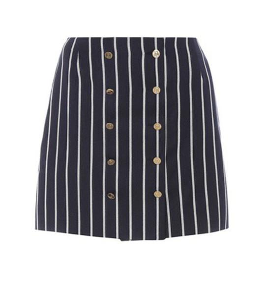 Thom Browne miniskirt cotton wool blue skirt
