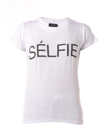 C(INCH) | Selfie T-Shirt in White - Women - Style36
