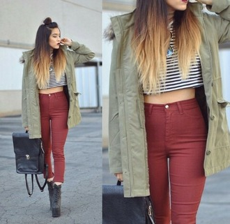 High Waisted Burgundy Skinny Jeans Ye Jean