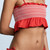 Lisa Marie Fernandez Selena Smocked Tomato Crepe Bikini