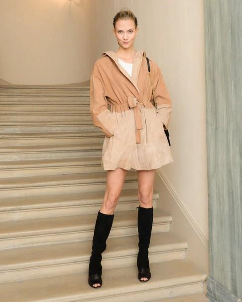 coat boots karlie kloss