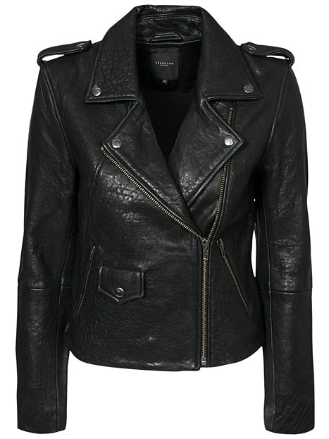 Buff leather jacket, selected femme