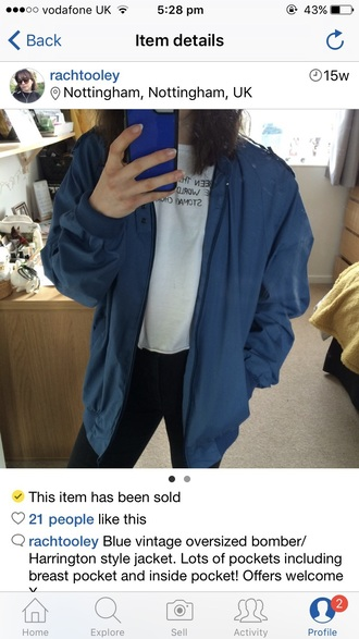 jacket oversized bomber jacket