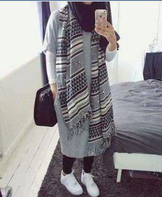 dress t-shirt oversized midi dress grey long maxi style street