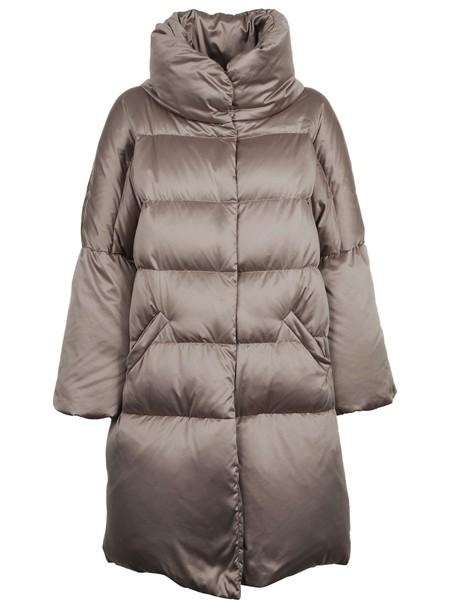 Herno coat high high neck grey