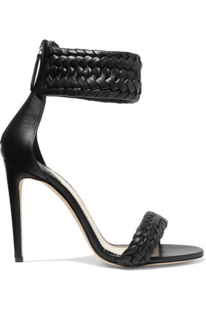 Altuzarra - Ghianda Braided Leather Sandals - Black
