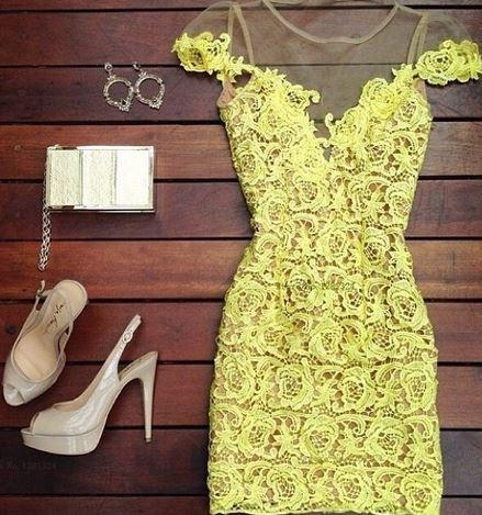Sabrina yellow dress