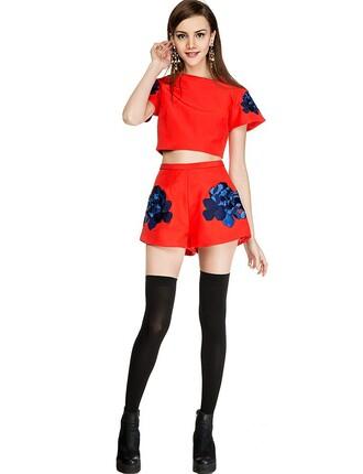 shorts pixie market pixie market girl keepsake shorts graphic shorts novelty shorts embroidered shorts party shorts red shorts