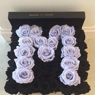 home accessory black roses purple