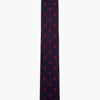 red scarf black skull menswear tie ties stripe scarf red