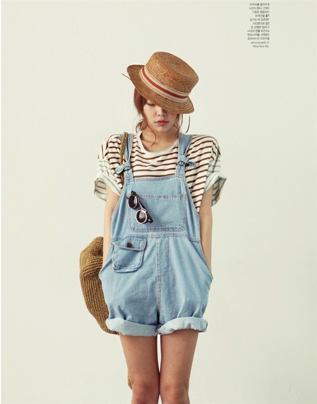 BOYFRIEND Style Loose Casual Women Denim Bib Pants Overalls Cute Girl Washed Jeans Jumpsuit Romper Overall Shorts Plus Size S XL-inWomen from Apparel & Accessories on Aliexpress.com