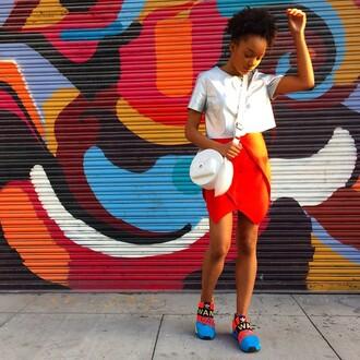 skirt finders keepers orange skirt