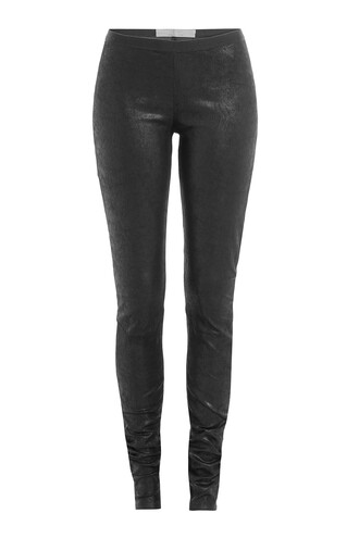 leggings leather cotton black pants