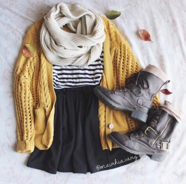 cardigan jacket warm yellow