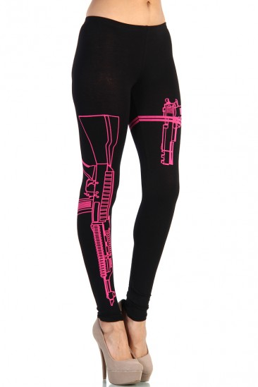 LoveMelrose.com From Harry & Molly | Machine Gun Leggings - Fuchsia