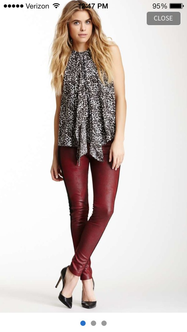 blouse leggings shoes