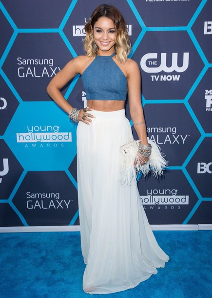 bohemian mtv maxi skirt white skirt vanessa hudgens top skirt