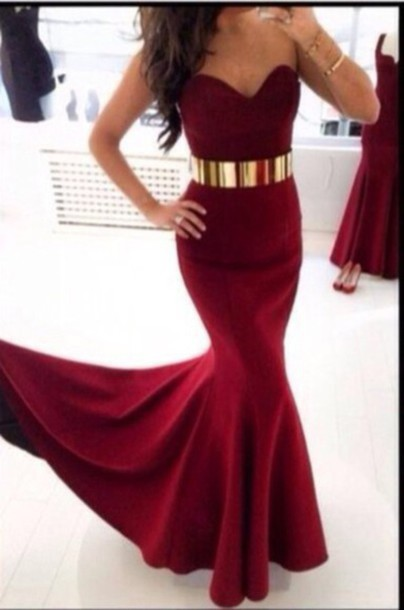 com : Buy Black Lace dark red Backless Prom Dresses Long Sleeves ...