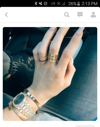 jewels rings and tings gold ring rosegold ring cute rings stackable jewelry stackable ring kylie jenner cartier love ring kylie jenner jewelry kylie jenner bracelet bracelets jewelry ring gold keeping up with the kardashians
