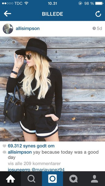 shorts black allisimpson fashion
