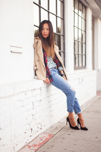 song of style coat shirt t-shirt belt jeans shoes jewels