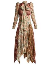 dress,silk dress,floral,print,silk