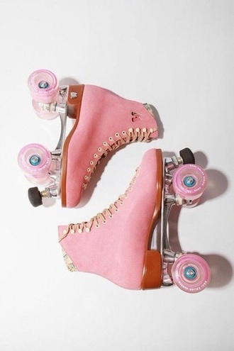shoes roller skates pink cute