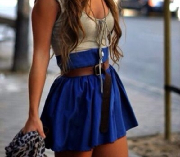 adorable cute skirt blue skirt