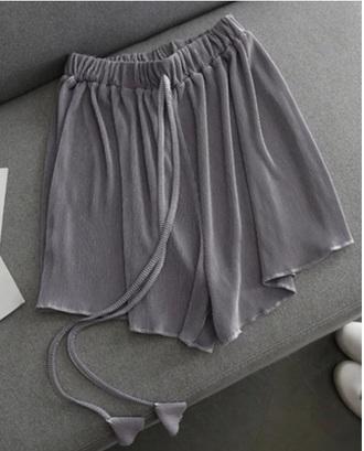 shorts girly grey short silk