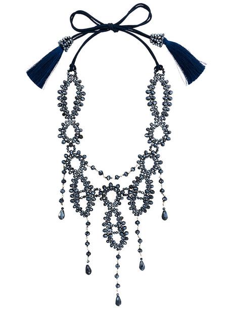 Night Market women necklace blue jewels