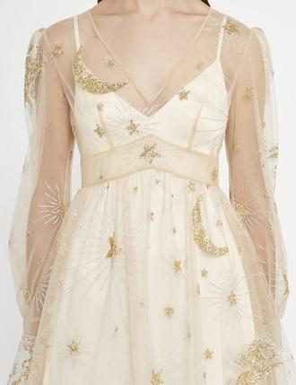dress satin dress light creamy floral