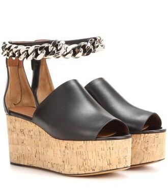 open embellished sandals platform sandals black shoes