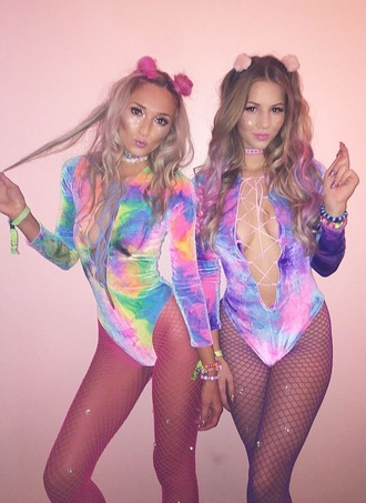 jumpsuit tumblr colorful coachella trippy halloween cute girly rave glitter need  pretty sexy