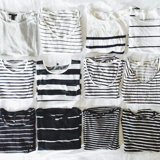 t-shirt grunge hipster aesthetic tumblr soft grunge fashion indie stripes black black and white pale top