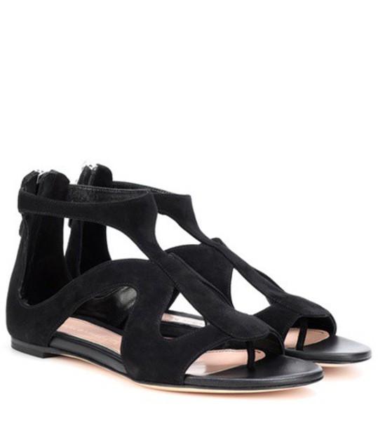 Alexander Mcqueen sandals suede black shoes
