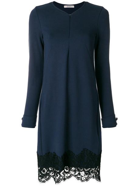 Dorothee Schumacher dress women spandex lace blue