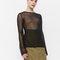 Enamore knit ls top | black